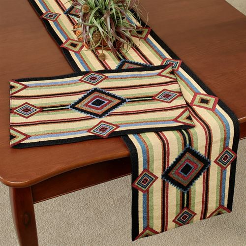Chief Blanket Table Runner Multi Warm 13 X 72