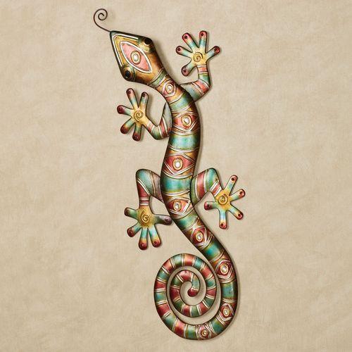 Southwest Gecko Metal Wall Art Multi Jewel