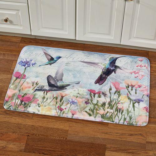 Hummingbird Haven Cushioned Rectangle Mat Multi Cool 35 x 22