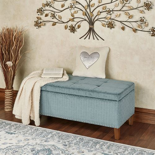 Isabelle Storage Bench Steel Blue