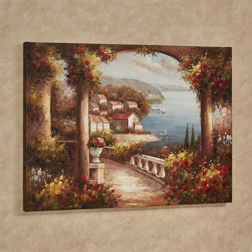 Tuscan Village Canvas Wall Art Multi Cool