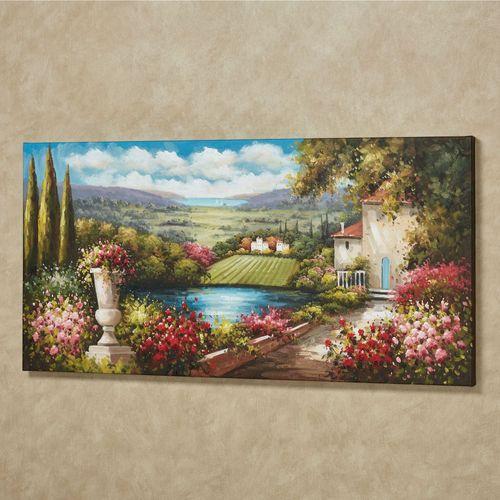 Tuscany in Bloom Canvas Art Multi Warm