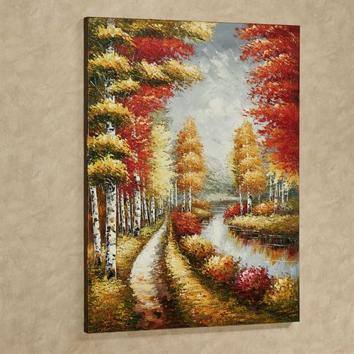 Colors of Fall Canvas Wall Art Multi Warm