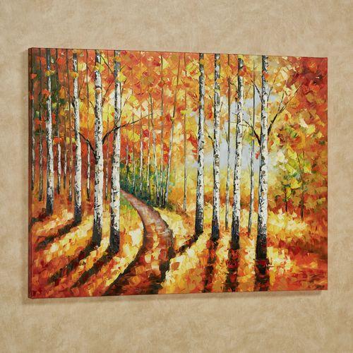 Golden Path Canvas Wall Art Multi Warm