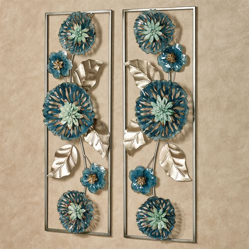 Anabelle Floral Wall Art Blue Set of Two