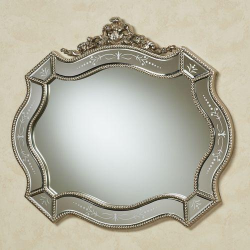 Vivienne Wall Mirror Antique Silver