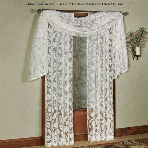 Tropical Frond Sheer Curtain Panel