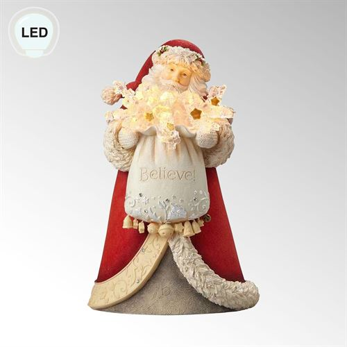 Believe Santa Claus Figurine Red