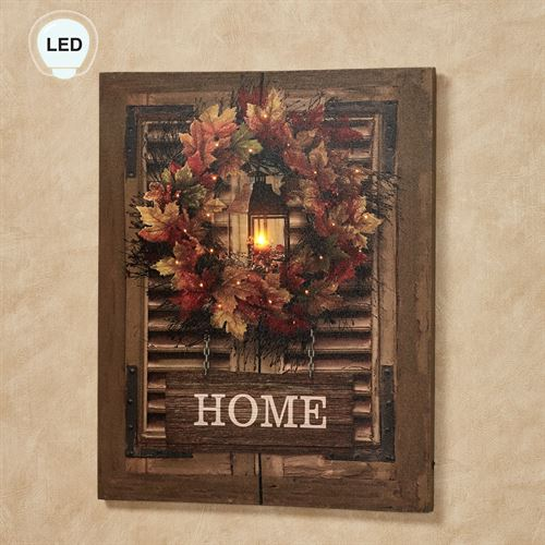 Harvest Home Lighted Canvas Wall Art Multi Warm