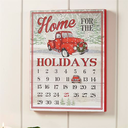 Home for the Holidays Calendar Wall Plaque Multi Warm