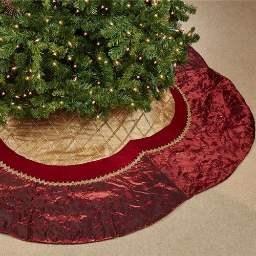 elegant scallop tree skirt goldwine 72 diameter