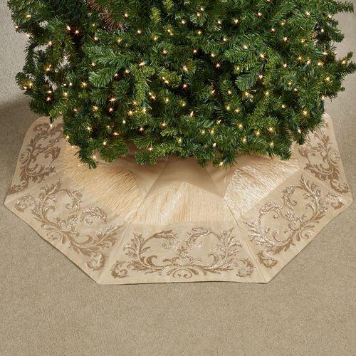 Touch of Gold Christmas Tree Skirt 50 Diameter