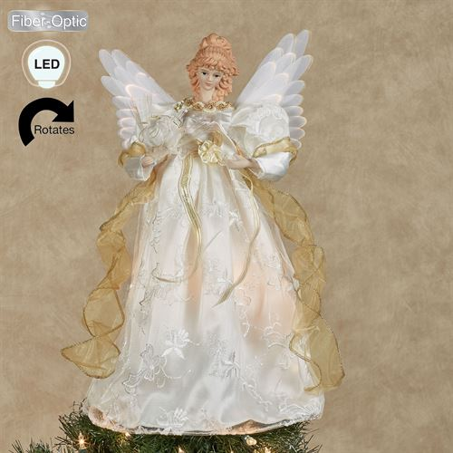 Guardian Angel Lighted Tree Topper Ivory