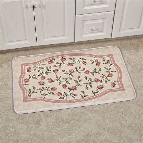 Bridal Rose Rectangle Cushioned Mat Blush 35 x 22