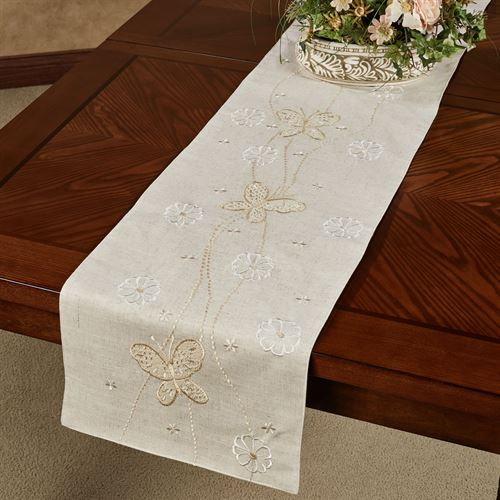 Spring Breeze Table Runner Almond 14 x 72