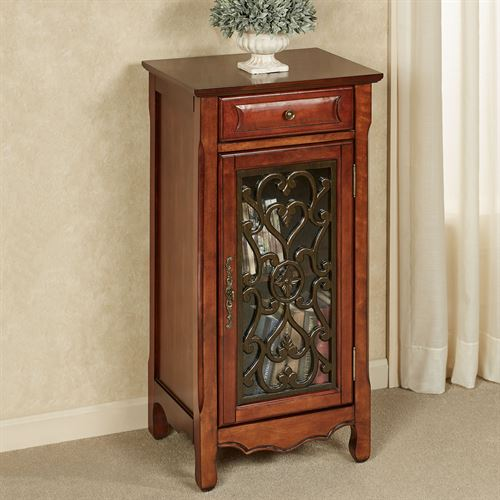 Harper Storage Cabinet Natural Cherry