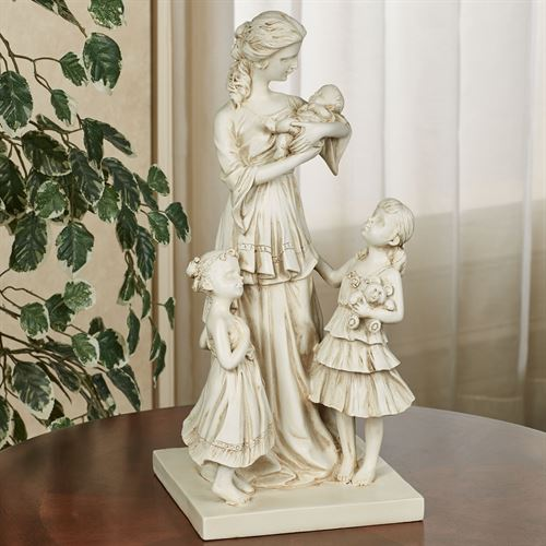 Mother and Children Table Sculpture Ivory