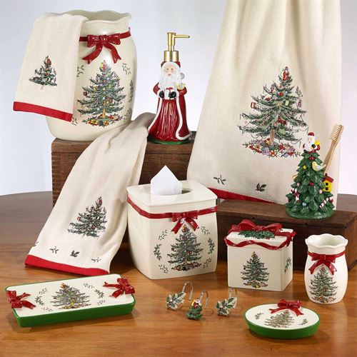 Spode Christmas Lotion Soap Dispenser Light Cream