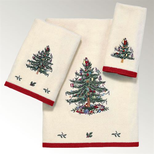 Spode Christmas Bath Towel Set Light Cream Bath Hand Fingertip