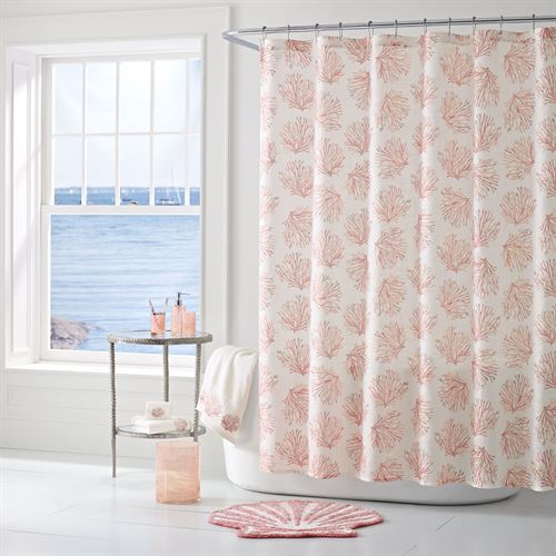 Coral Reef Semi Sheer Shower Curtain 72 x 72