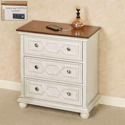 Orion Charging Station Storage Cabinet Ivory