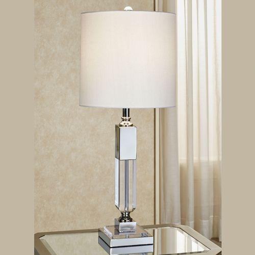 Lockwood Chrome And Clear Acrylic Table Lamp