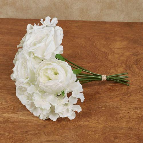 Summer white artificial flower bouquet summer flower bouquet white mightylinksfo