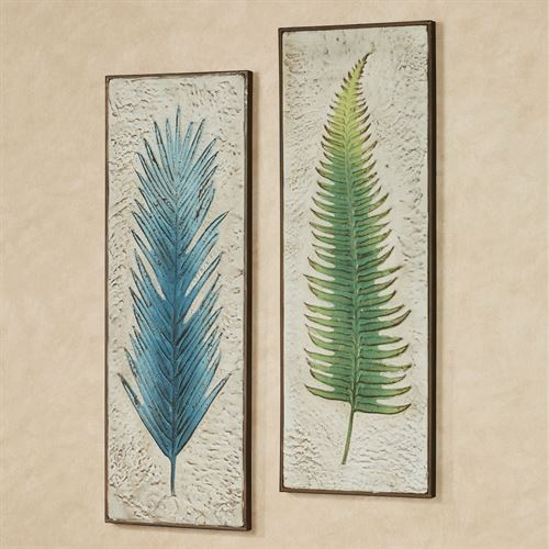 Blue Fern Impression Wall Art Panel Multi Cool