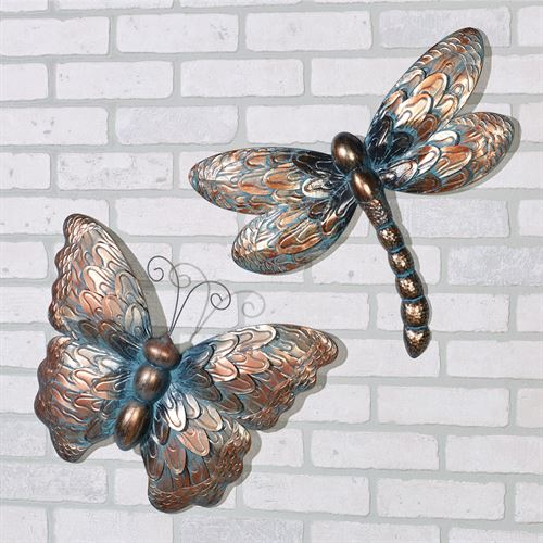 Summer Beauties Wall Art Bronze Set of Two