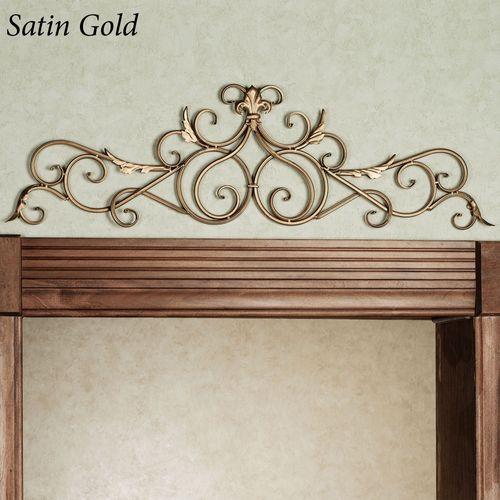 Salvatoria Scroll Topper Satin Gold
