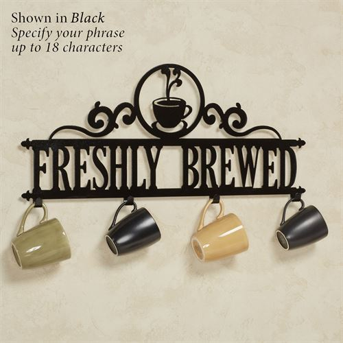 Occasions Personalized Wall Hook Rack Coffee