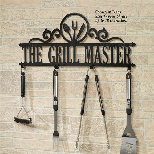 Occasions Personalized Wall Hook Rack Utensils