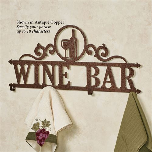 Occasions Personalized Wall Hook Rack Wine