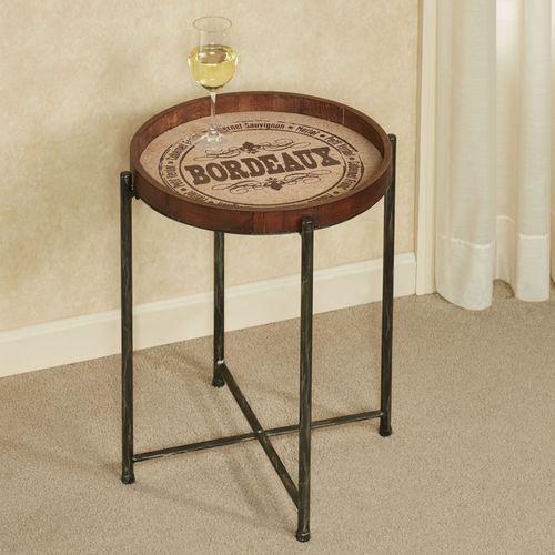Vineyard Accent Table Antique Black