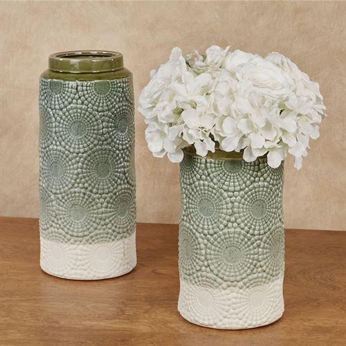 Aster Vases Green Set of Two