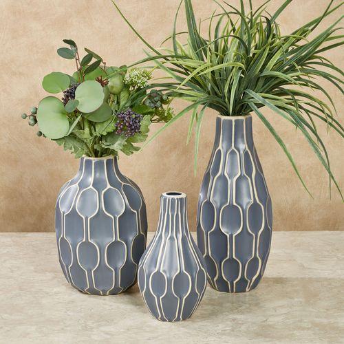 Archer Vases Blue Set of Three