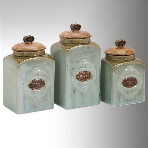 Addison Kitchen Canisters Multi Cool Set of Three