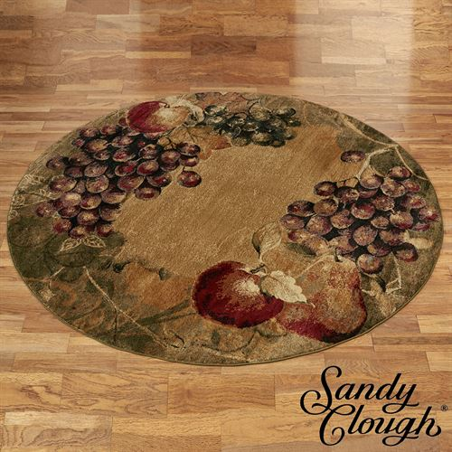 Tuscan Countryside Round Rug Multi Earth 710 Round