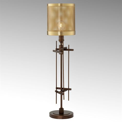 Creed Industrial Style Metal Table Lamp