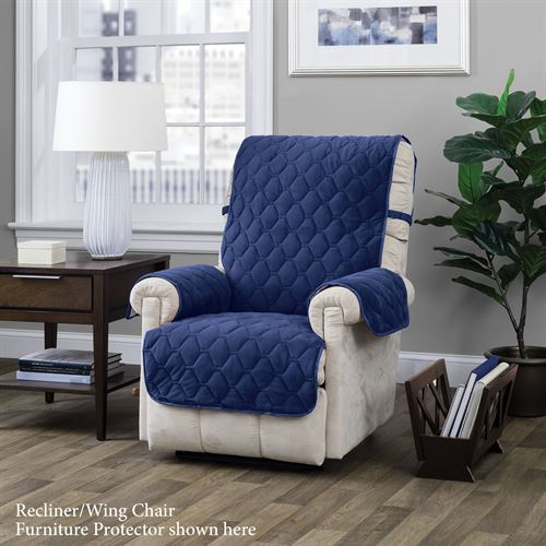 Geo Furniture Protector Blue Recliner/Wing Chair