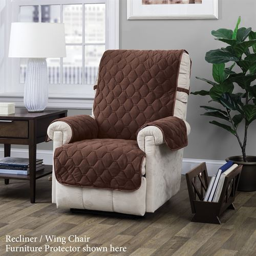 Geo Furniture Protector Chocolate Recliner/Wing Chair