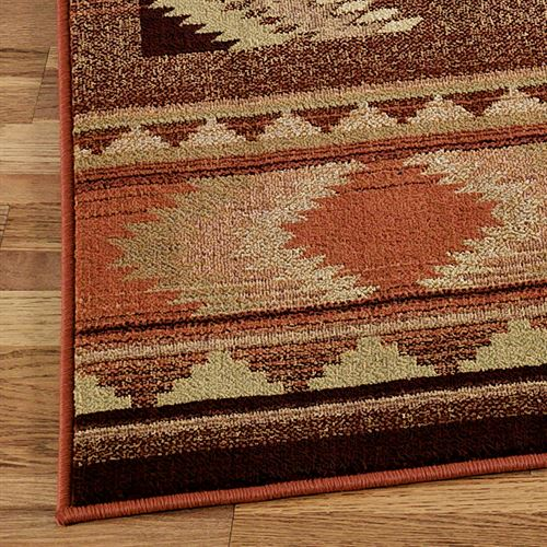 Rio Rancho Square Rug Copper