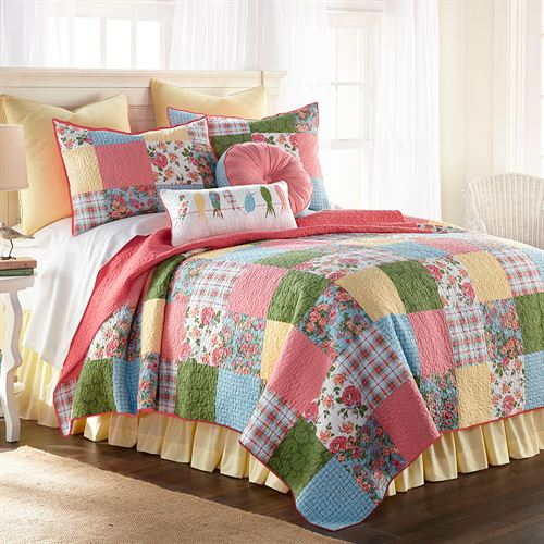 Sunny Patch Patchwork Quilt Multi Bright