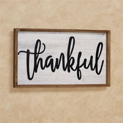 Rustic Thankful Word Wall Plaque Sign Multi Cool