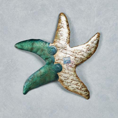 Postcard Beach Starfish Wall Art Multi Cool