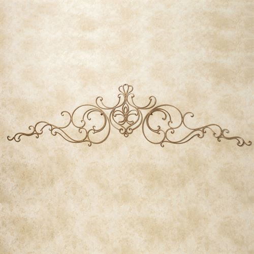 Saverio Swag Wall Topper Set Satin Gold Set of Three