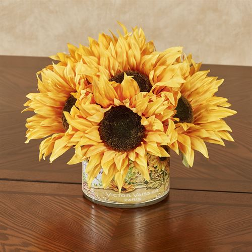 Sunflowers Galore Floral Centerpiece Multi Warm