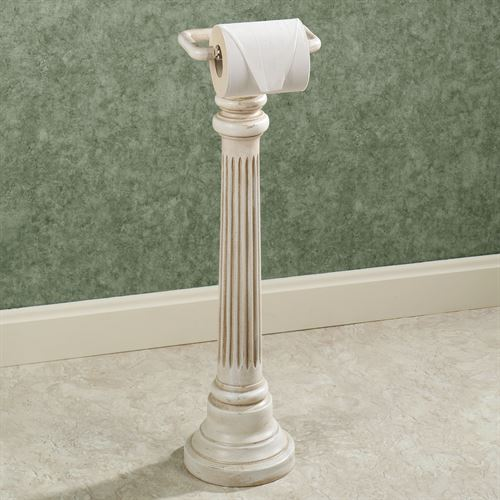 Column Toilet Paper Stand Old World White