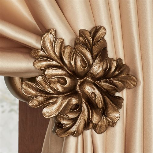 Vilayna Curtain Tieback Pair Antique Gold