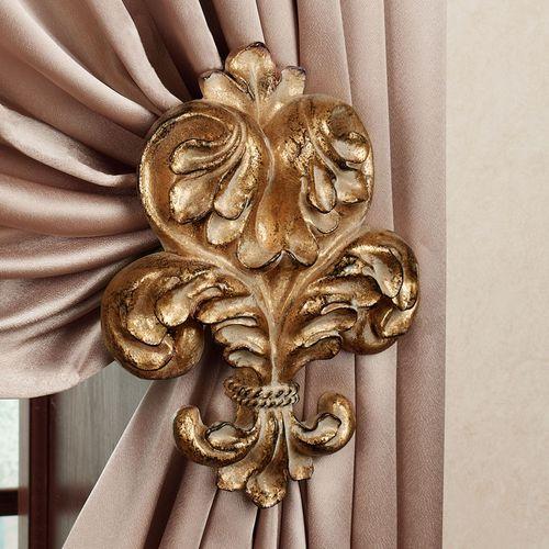 Genevierre Tieback Pair Ornate Gold
